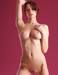 Model abby in cute nude