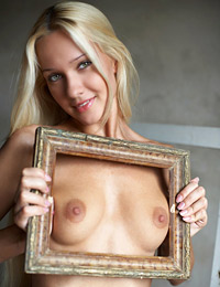 Model desiree in framed beauty
