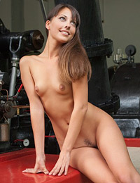 Model lorena g in fun at work