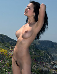 Model beata in an island for us